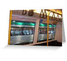 Train Interior - 25 03 13 Greeting Card