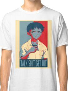 Shinji Ikari - Talk Shit Get Hit Classic T-Shirt