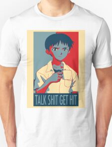Shinji Ikari - Talk Shit Get Hit T-Shirt