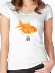 Balloon fish Women's Fitted Scoop T-Shirt
