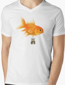 Balloon fish Mens V-Neck T-Shirt