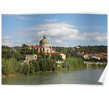 Church San Giorgio in Braida at River Adige Poster