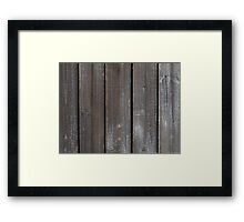 Old Wooden Wall Background Framed Print