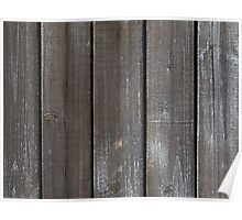Old Wooden Wall Background Poster