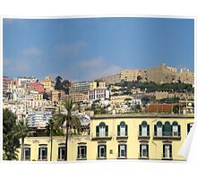 Naples colorful city view Poster