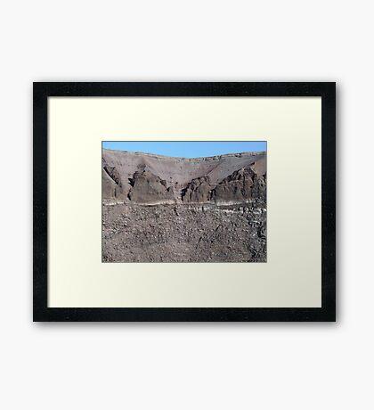 Mount Vesuvius Crater Framed Print