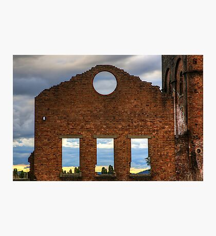 Sunset At The Blast Furnace Photographic Print