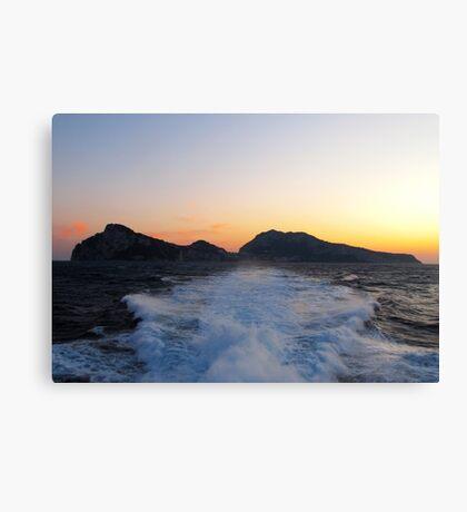 Island Capri at Sunset Canvas Print