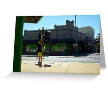 Corner Green Pants As Seen By UB Bicycle Greeting Card