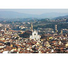 Florence with The Basilica di Santa Croce Photographic Print