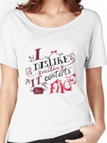 I Dislike Smiling Women's Relaxed Fit T-Shirt