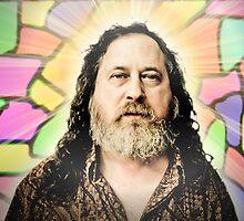 super gnu hero Richard Stallman by JennyMainframe