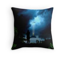 Calmness in the Storm of Life Throw Pillow