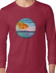 goldfish sunrise Long Sleeve T-Shirt