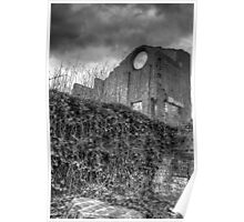 Blast Furnace, Lithgow - black and white Poster