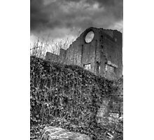 Blast Furnace, Lithgow - black and white Photographic Print