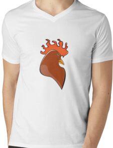 Rooster Mens V-Neck T-Shirt