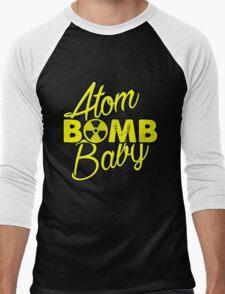 Atom BOMB Baby Men's Baseball ¾ T-Shirt