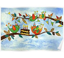 Happy Birdy Birthday Poster