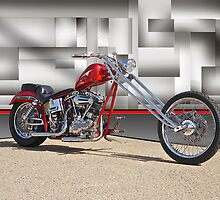 Red Chopper H by DaveKoontz