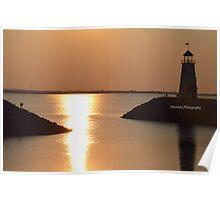 Lake Hefner Lighthouse in Oklahoma City Poster