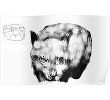 Imaginary Cat - (010413)- Digital artwork/mouse drawn Poster