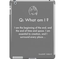 Riddle #1 iPad Case/Skin
