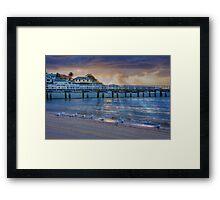 Seagulls like sunrises too Framed Print