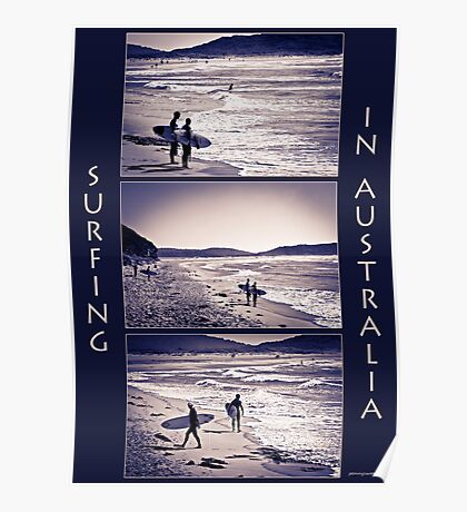 Surfing Collage Poster