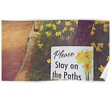 Please Stay on the Path Poster