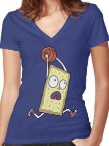 Rick & Morty - Dunking Poptart Women's Fitted V-Neck T-Shirt