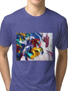 Colorful Abstract Floral Art  Tri-blend T-Shirt