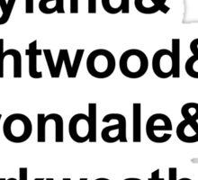 Shadowhunter Names Sticker