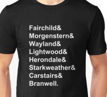 Shadowhunter Surnames Unisex T-Shirt