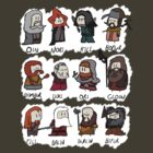 12 Dwarves by philandalec