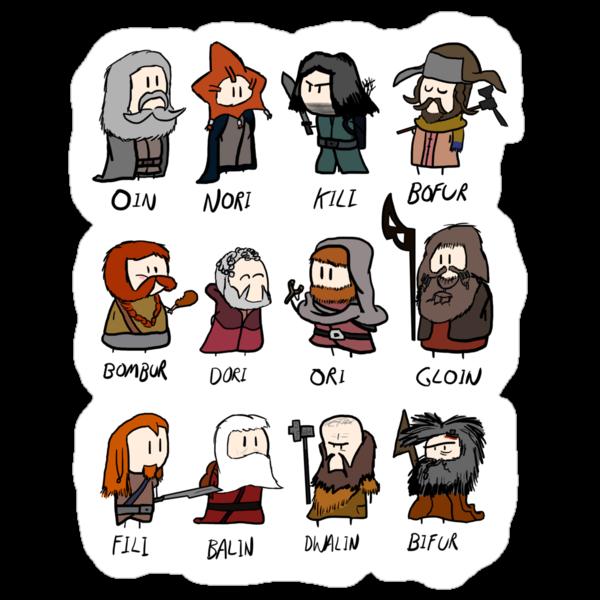 12 Dwarves by philandalec