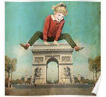 Parisian Leapfrog Poster