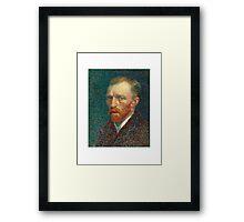 Vincent van Gogh - Self Portrait - Auto Portrait tshirt Framed Print