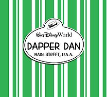 WDW Dapper Dans Name Tag - Green by jdotcole