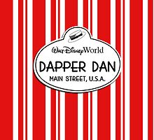 WDW Dapper Dans Name Tag - Red by jdotcole