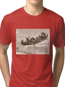 La chase galerie by Henri Julien - Tshirt - The Bewitched Canoe - The Flying Canoe Tri-blend T-Shirt