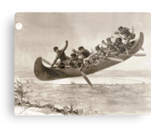 La chase galerie by Henri Julien - Tshirt - The Bewitched Canoe - The Flying Canoe Metal Print
