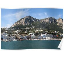 Island Capri panoramic Sea view Poster