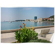 The Riva Split Waterfront in a bright sunny day Poster