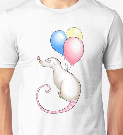 Celebration Rat With Balloons Unisex T-Shirt