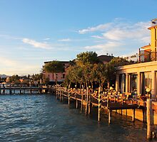 Jetty Port and Quay in Sirmione by kirilart