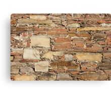 Ancient church wall background Canvas Print