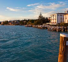Jetty Port and Waterfront in Sirmione by kirilart