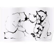 Kittens, resting -(010413)- Digital art/mouse drawn/Program: Sketchy Poster