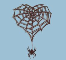 Spider Web Heart by SinfulStitches